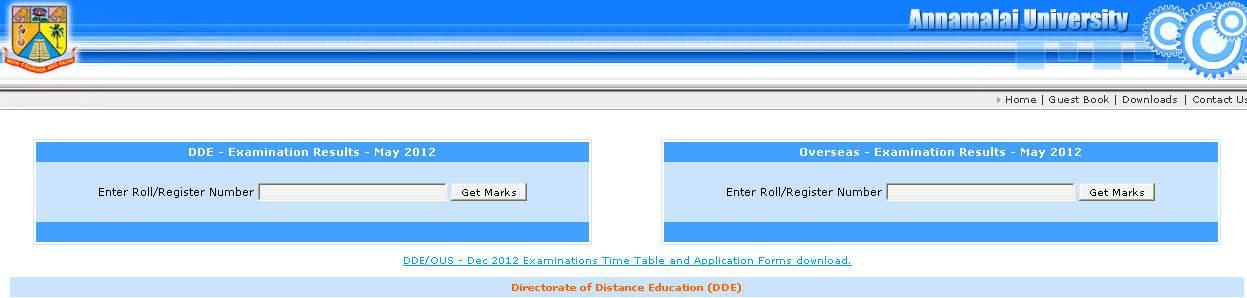 Re annamalai university distance education ug ba english may results