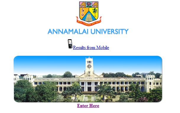 Annamalai university distance education english result picture