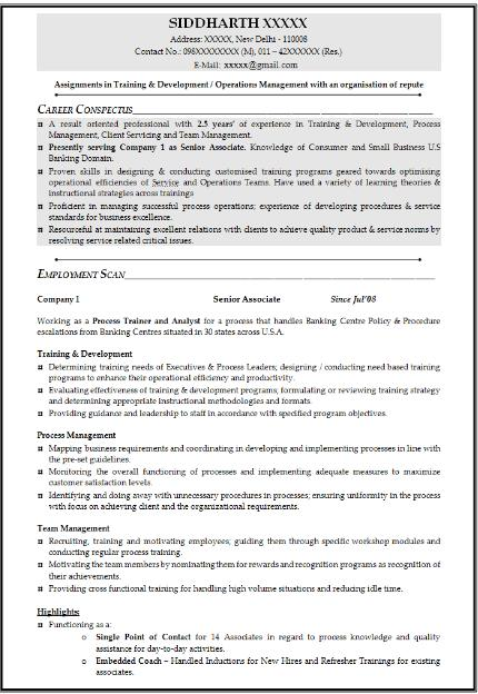 Mba Operations Resume Sample - 2017 2018 Mba