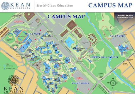 Kean University map Campus - 2017 2018 MBA