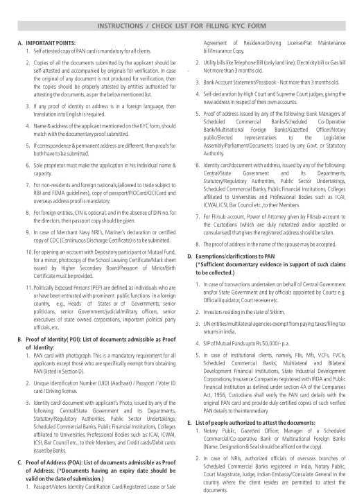 SBI KYC Form New - 2018 2019 MBA