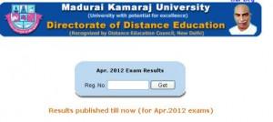 MKU DDE MCom result