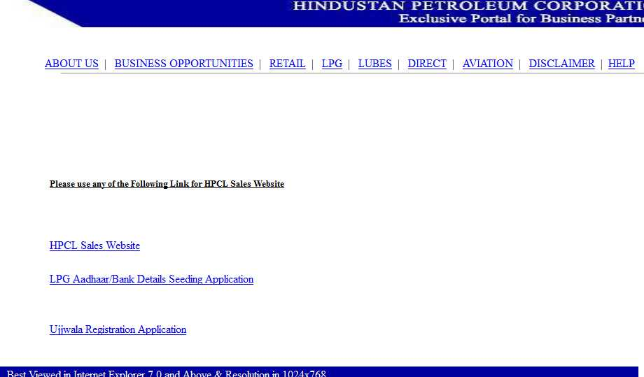 Welcome to Sales.hpcl.co.in - HPCL   Exclusive Portal For ...