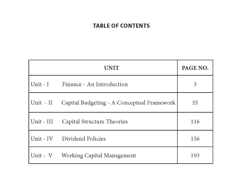 Financial Management Notes Mba Pdf