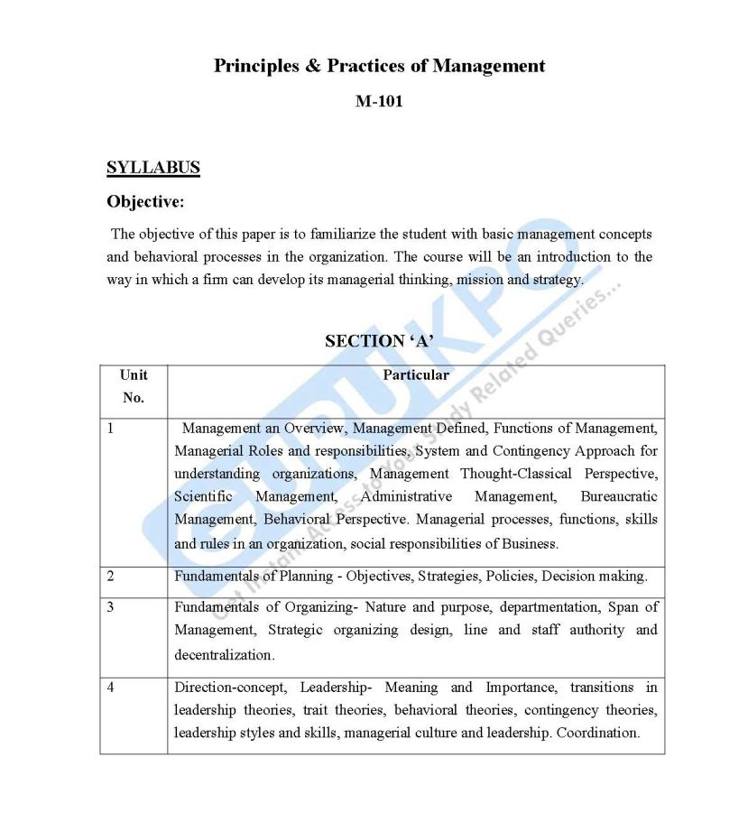 Principles Of Management Pdf For Mba