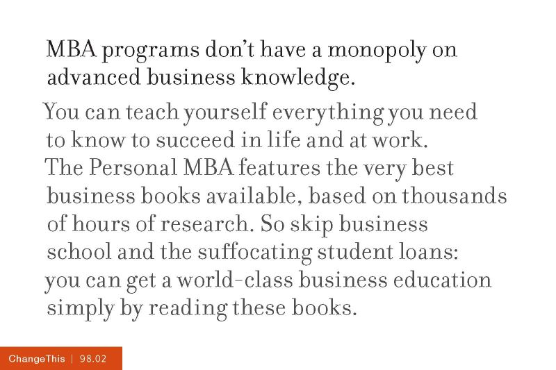The Personal MBA Josh Kaufman PDF Download - 2018 2019 MBA
